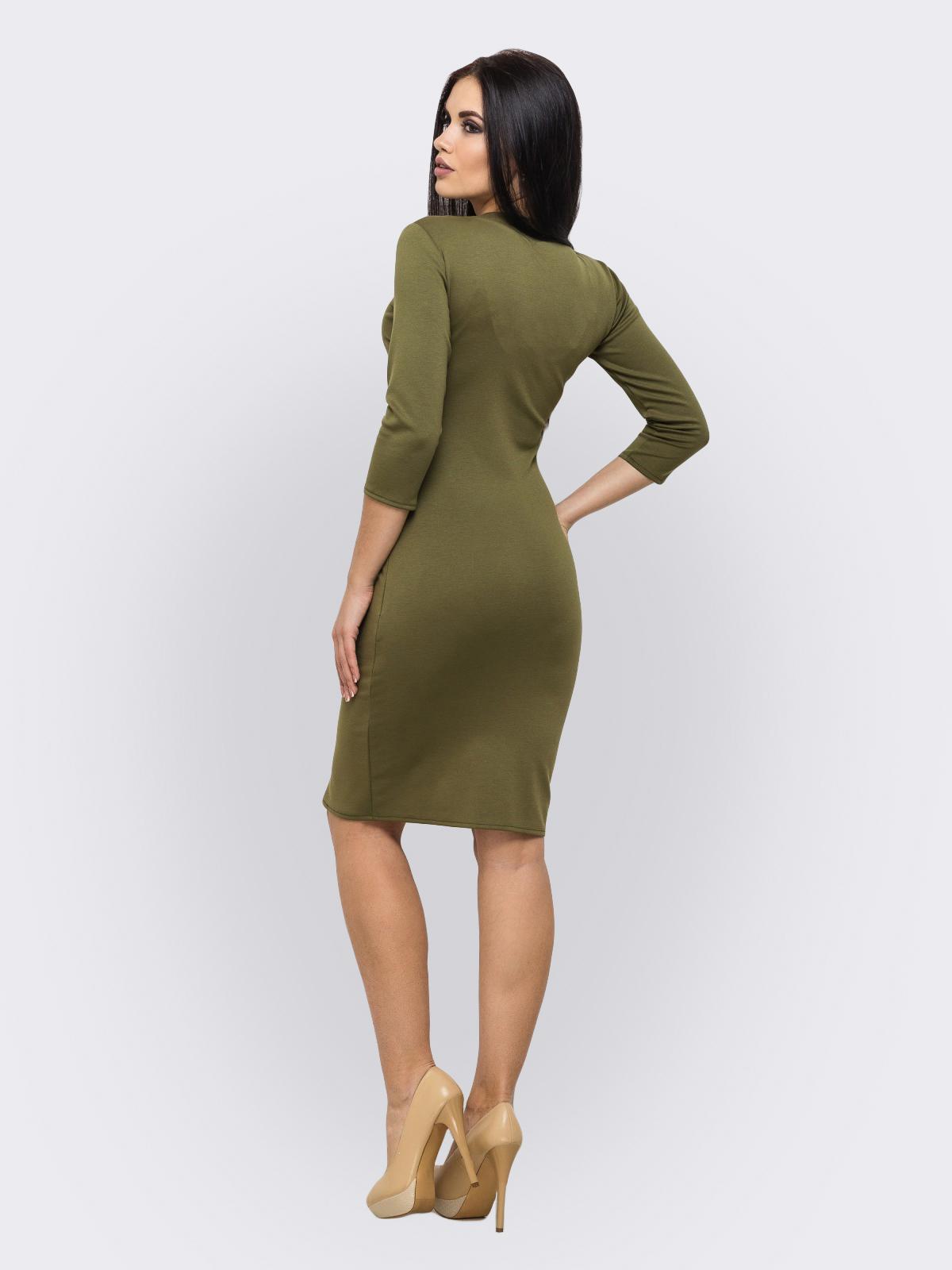 Платье Bella хаки