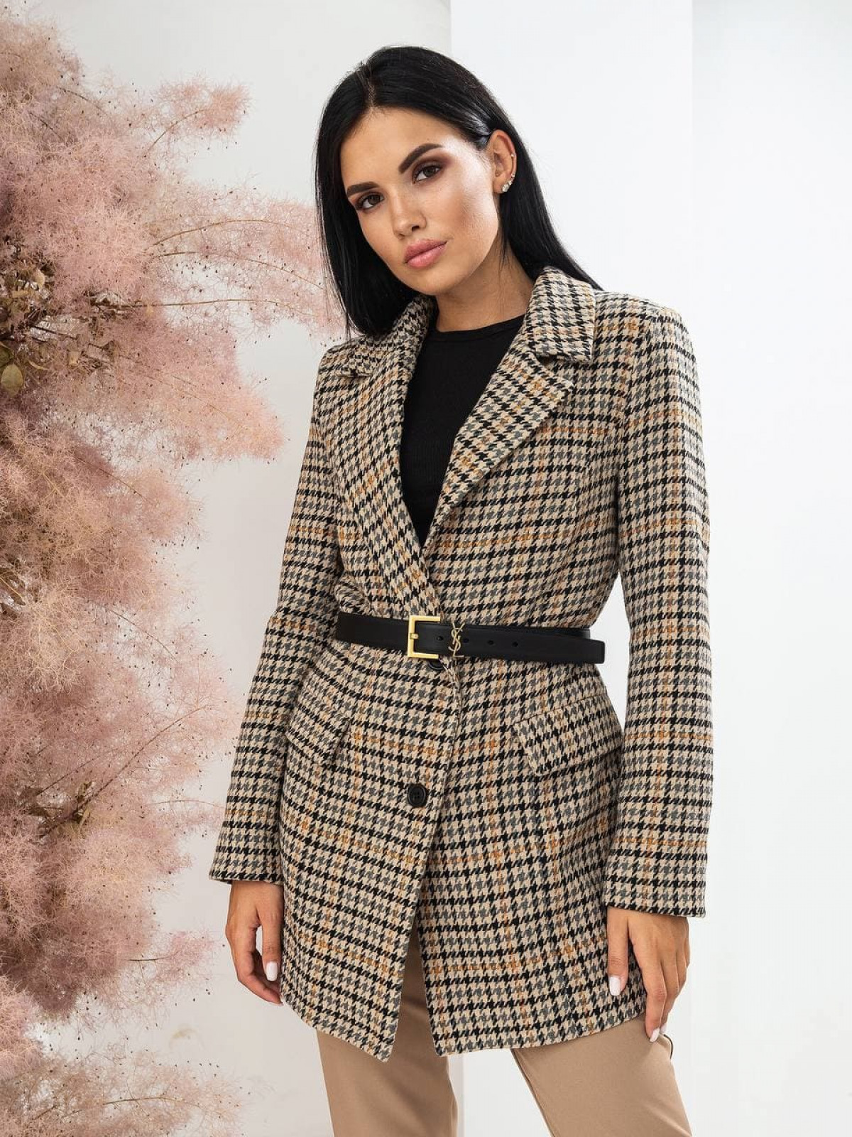 Пальто-пиджак Advance Бежевый-серый-оранжевый