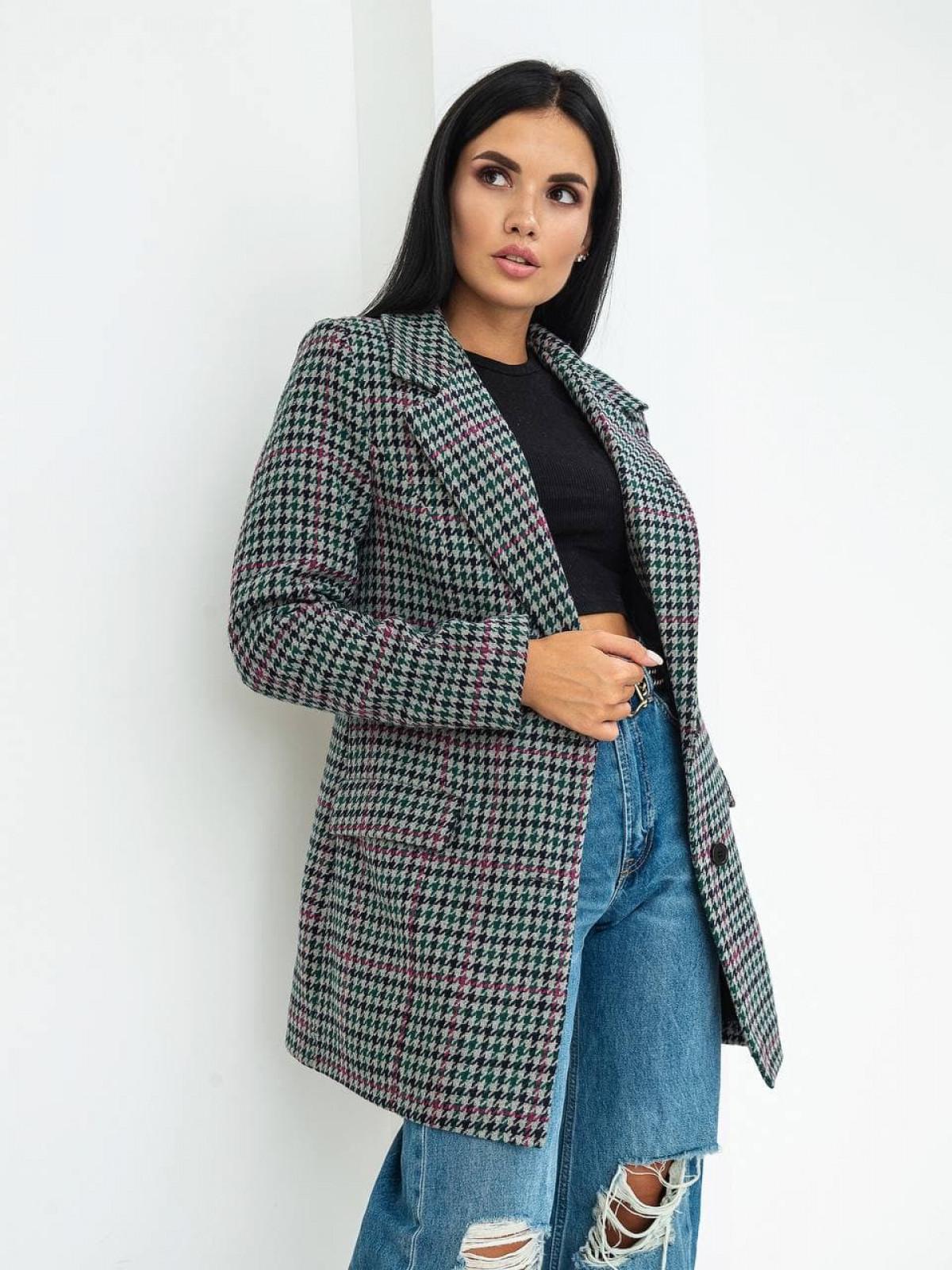 Пальто-пиджак Advance Серый-зеленый-малиновый