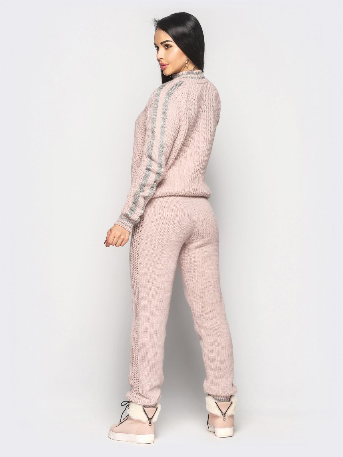 Комплект вязаный Chivas розовый-серый