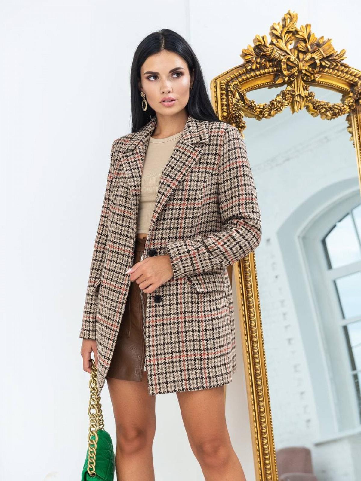 Пальто-пиджак Advance Бежевый-коричневый-оранжевый