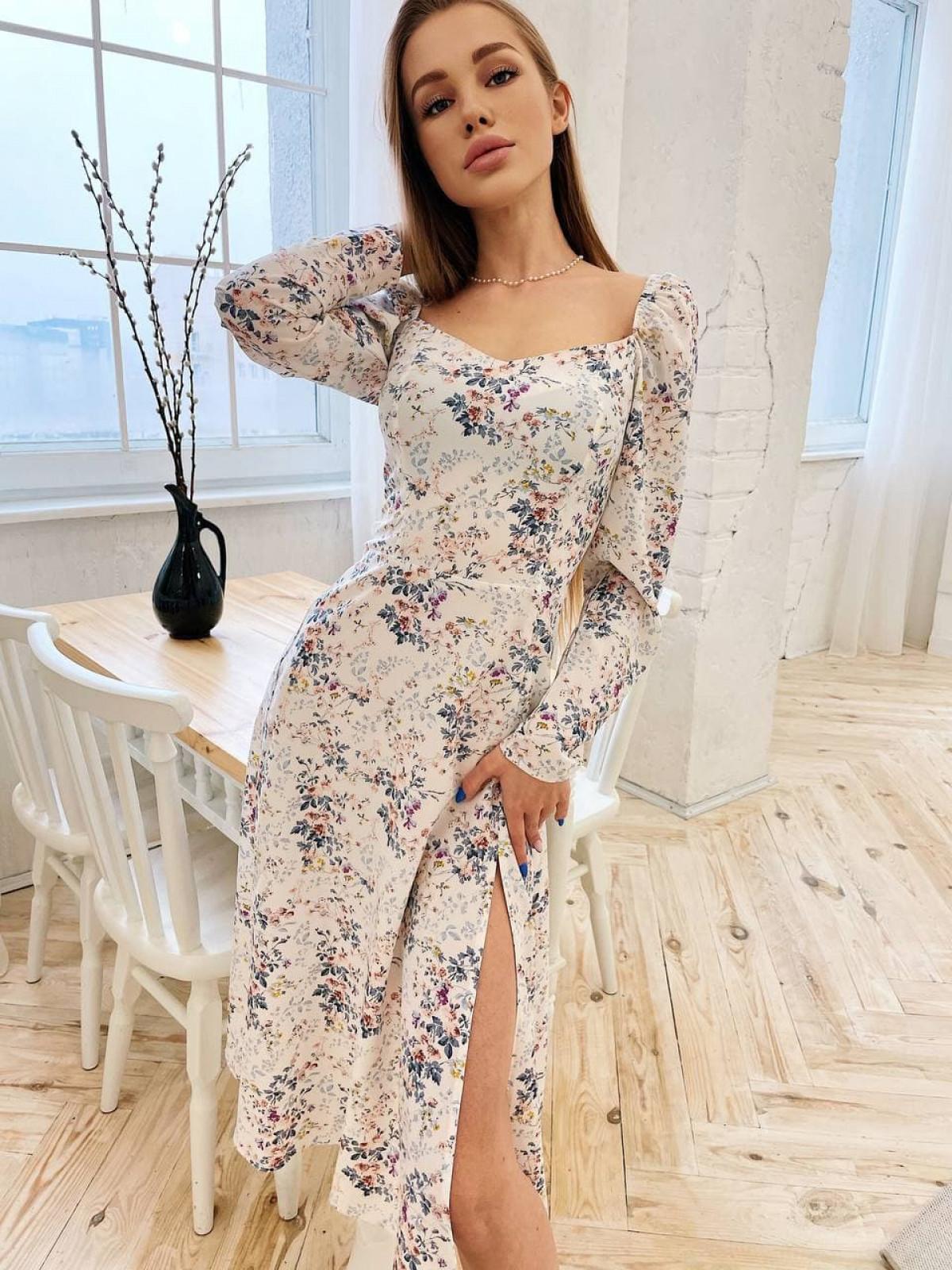 Платье Mirabella Молочный цветок