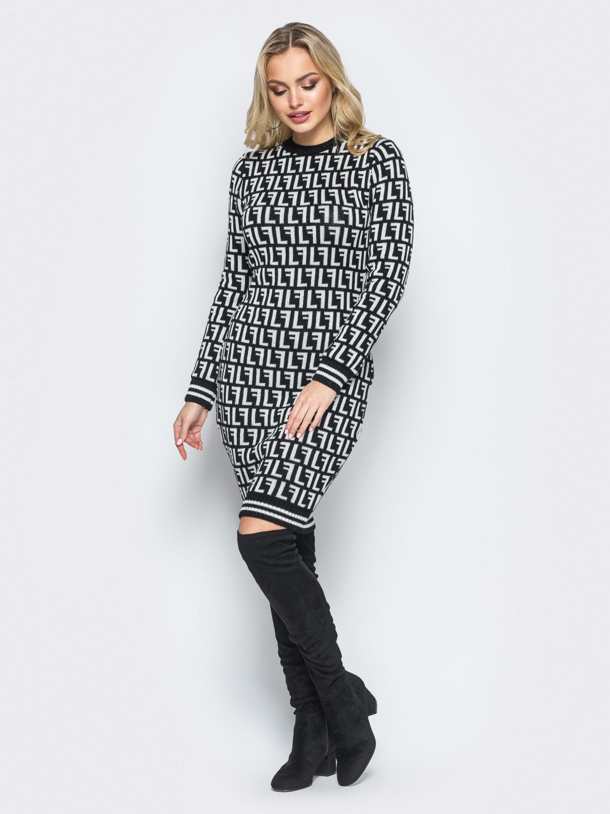 Платье Larionoff Черный-белый