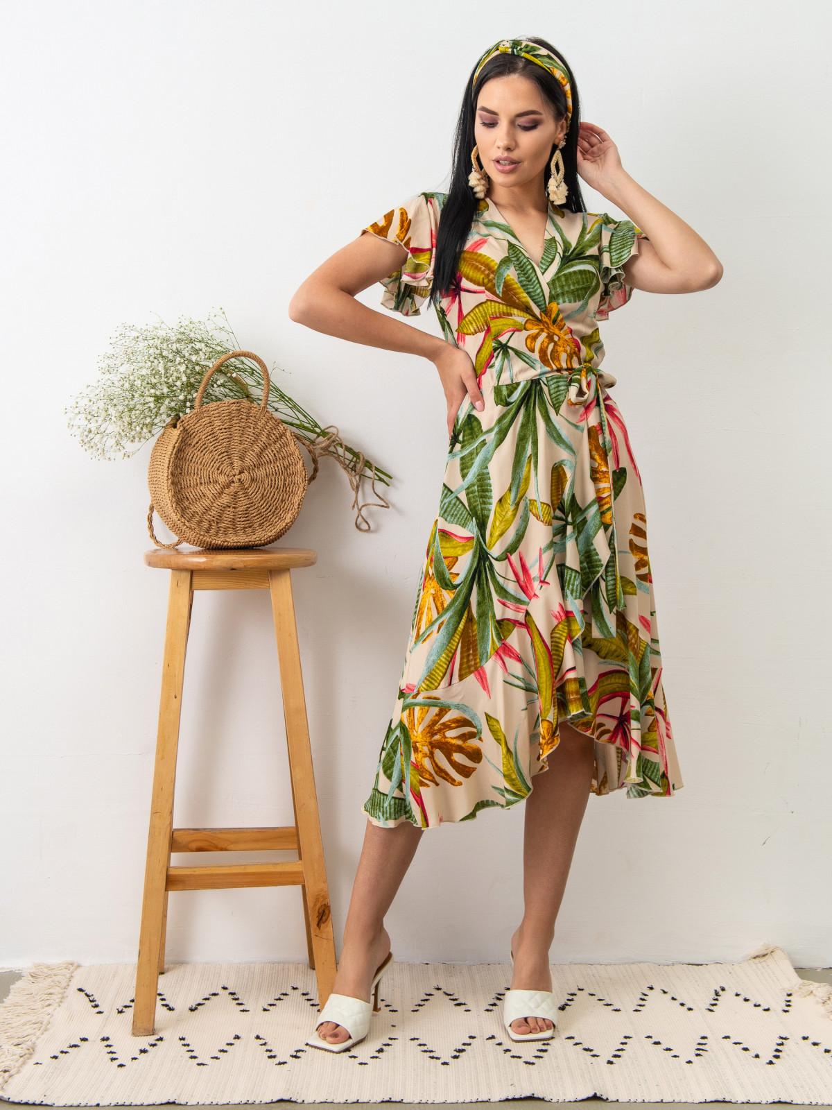 Платье Tropicana Молочный принт