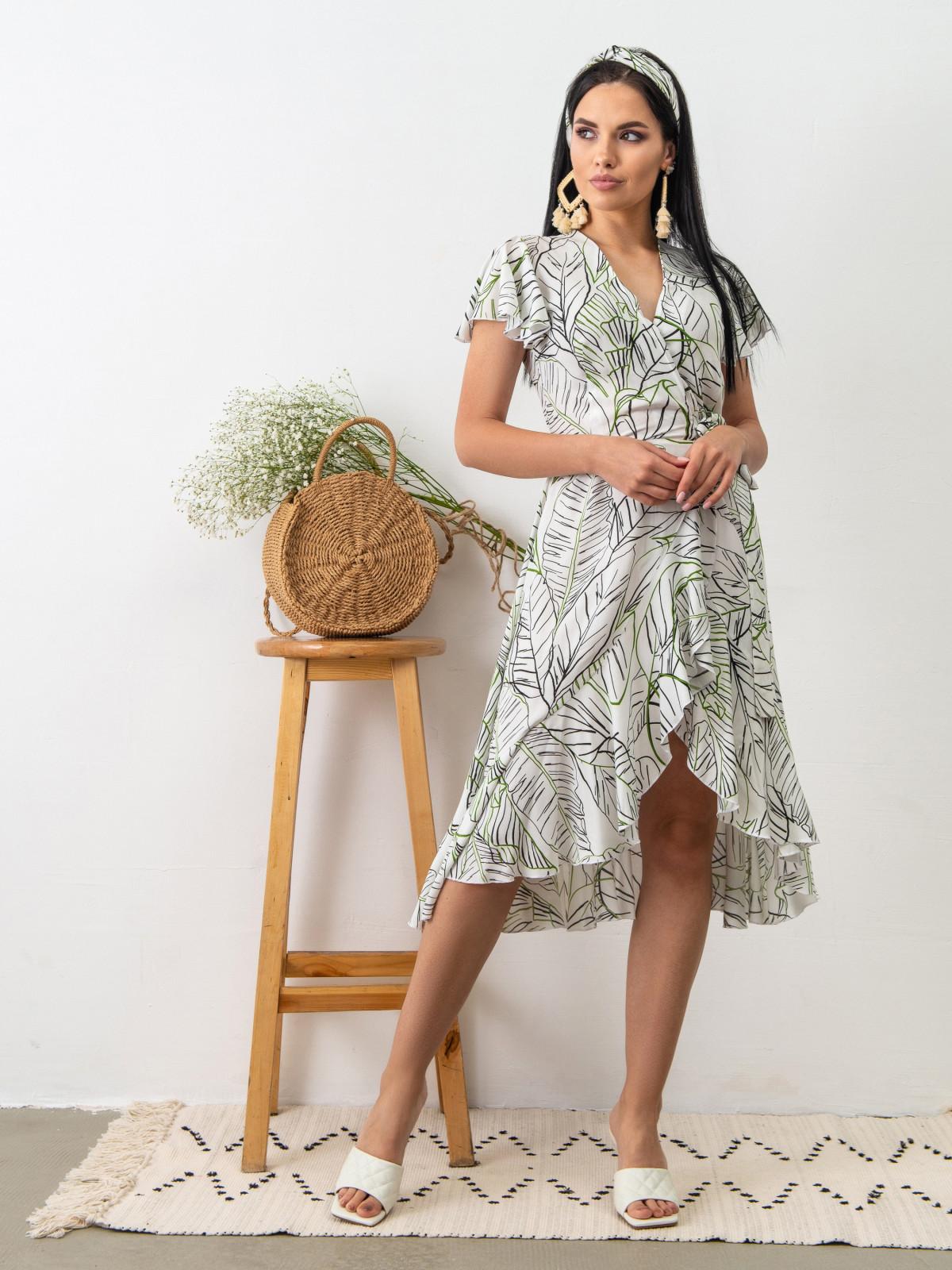 Платье Tropicana Белые листья