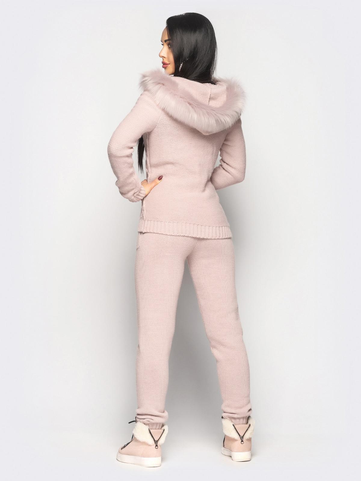 Комплект вязаный Philip розовый
