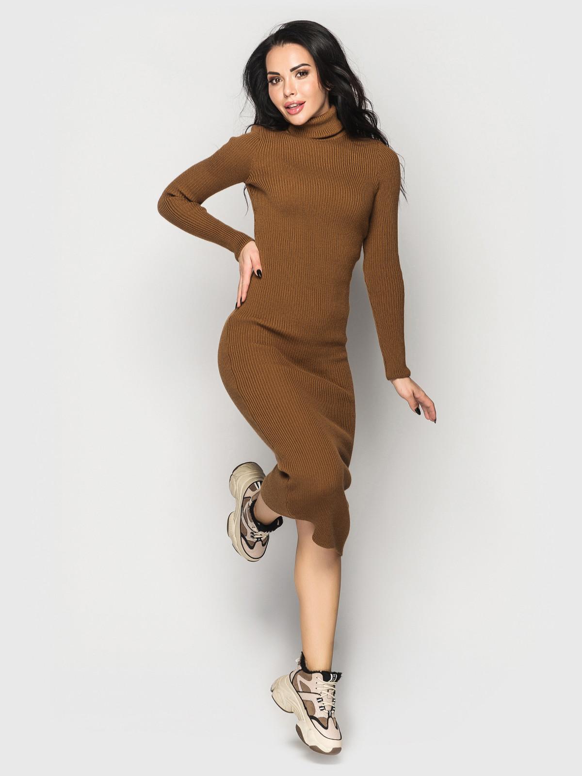 Платье вязаное Simona кэмэл