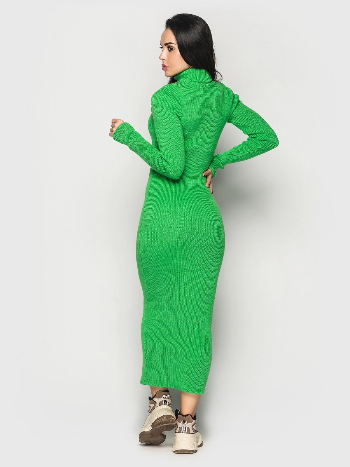 Платье вязаное Simona зеленый неон
