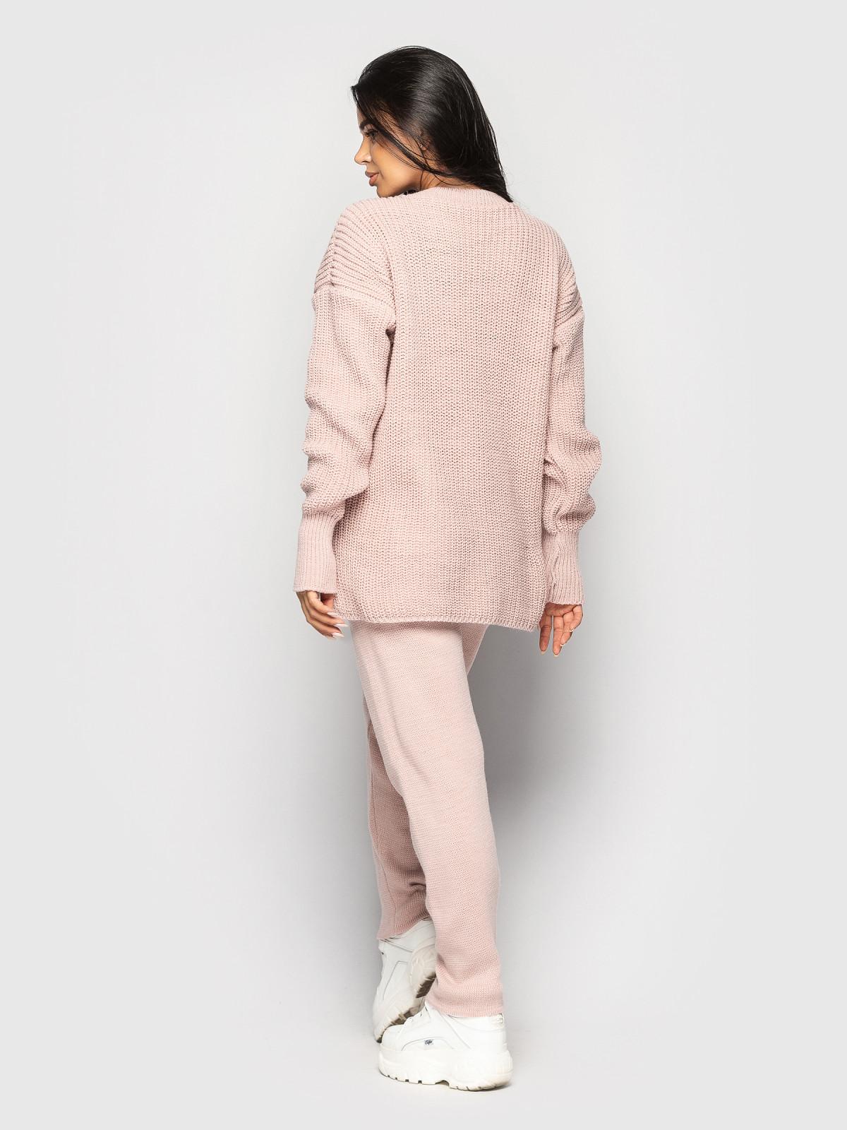 Комплект вязаный Garfild розовый
