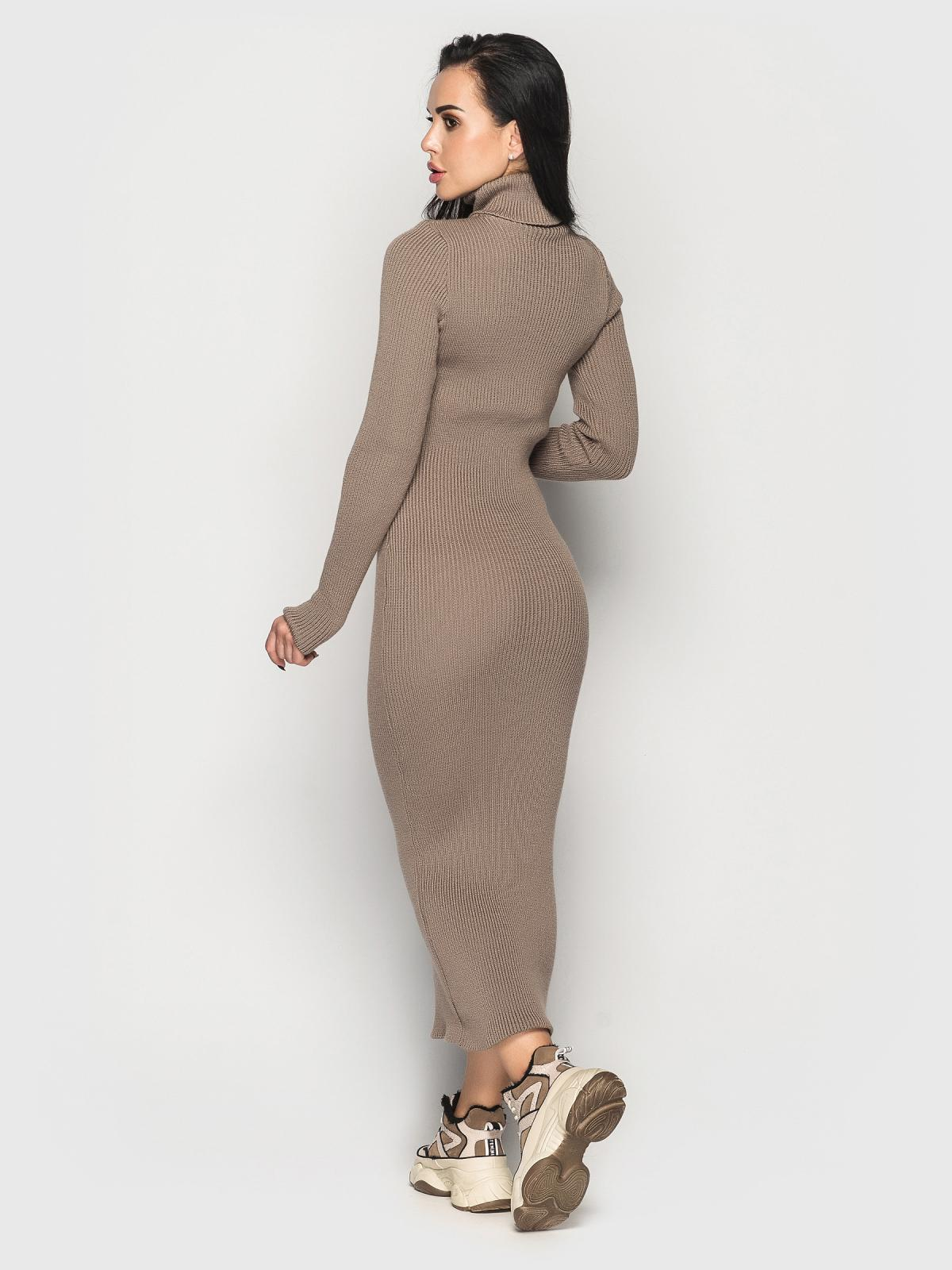 Платье вязаное Simona кофейный