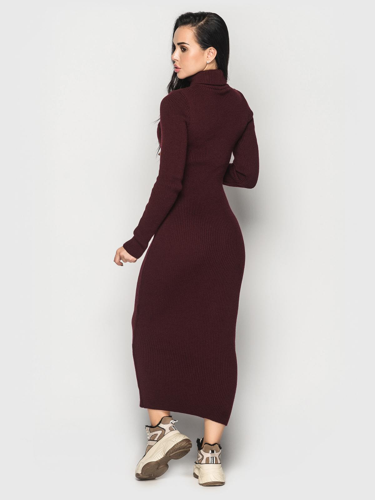 Платье вязаное Simona бордовый