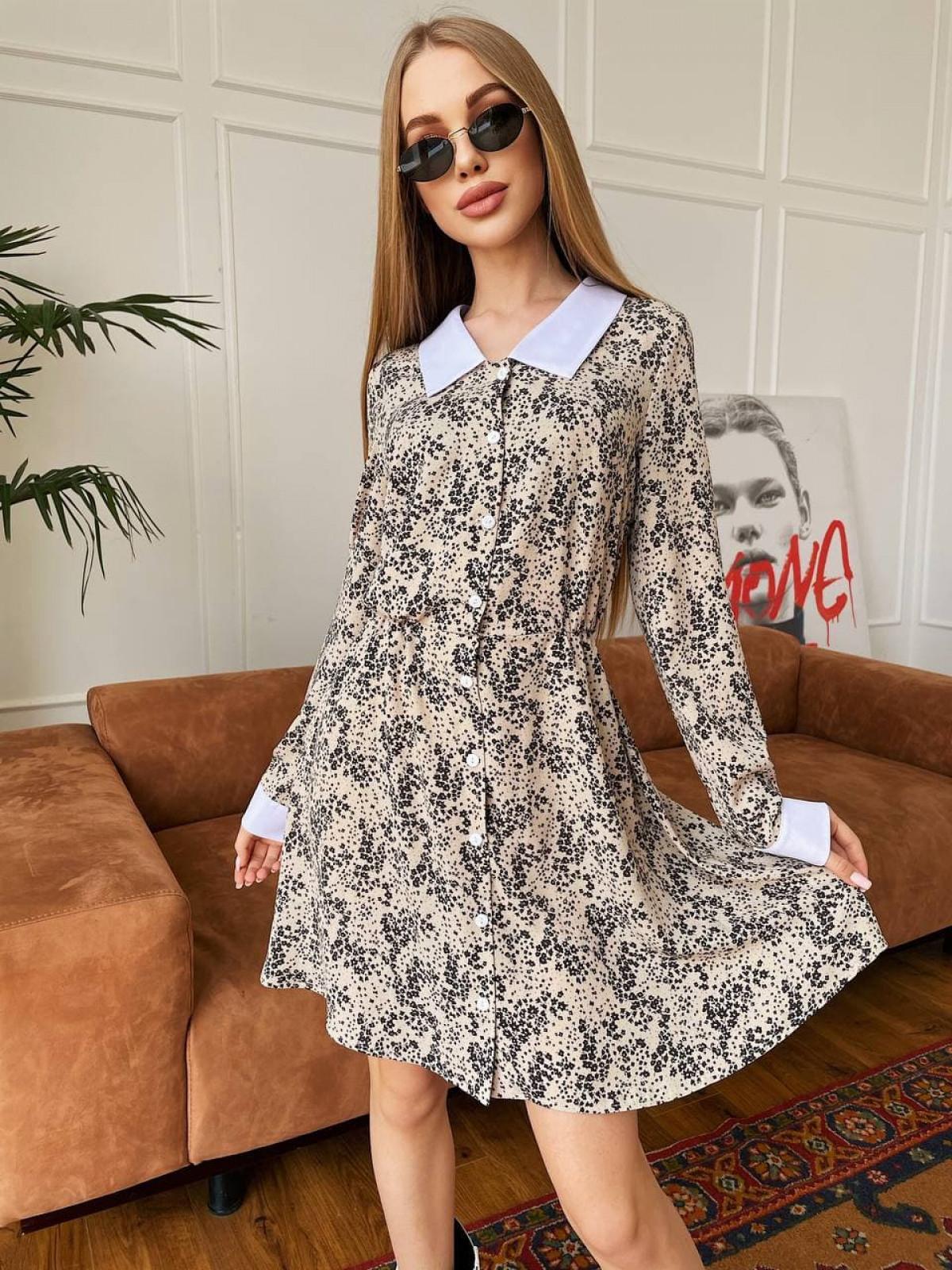 Платье KIMBO Бежевый-черный