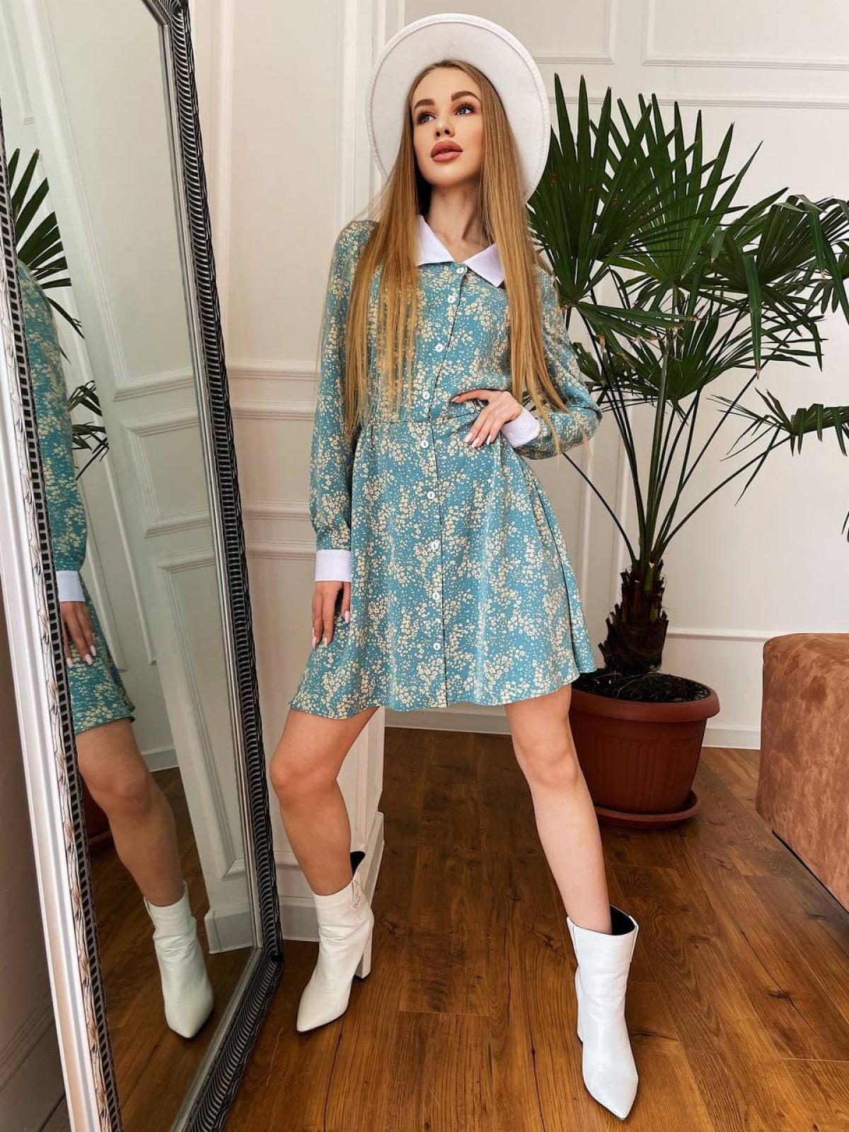 Платье KIMBO Голубой-белый