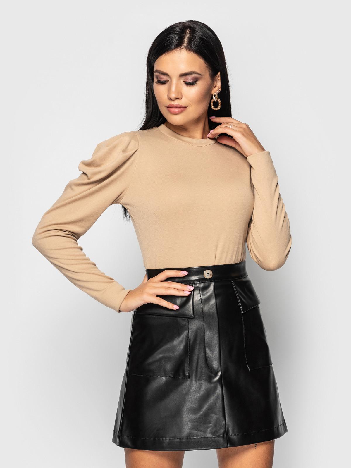 Комплект юбка с гольфом Palmira Черный-бежевый