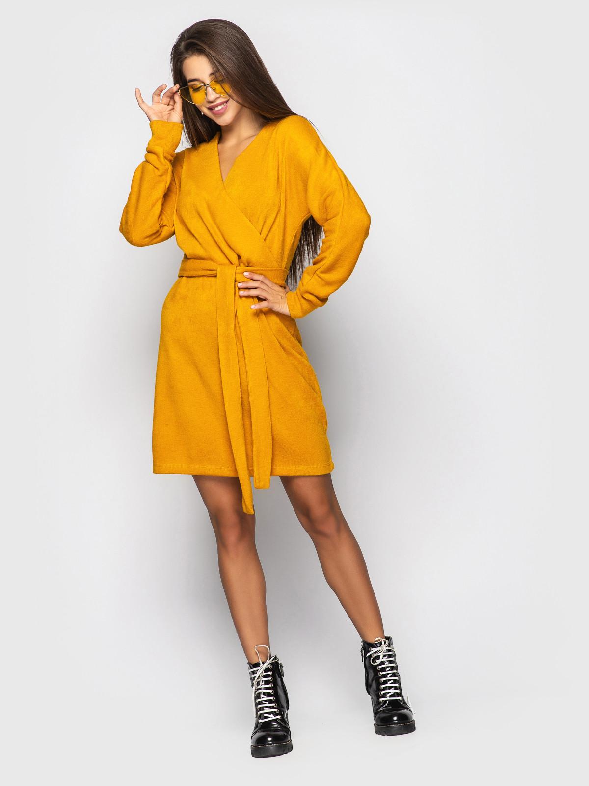 Платье Elza горчица