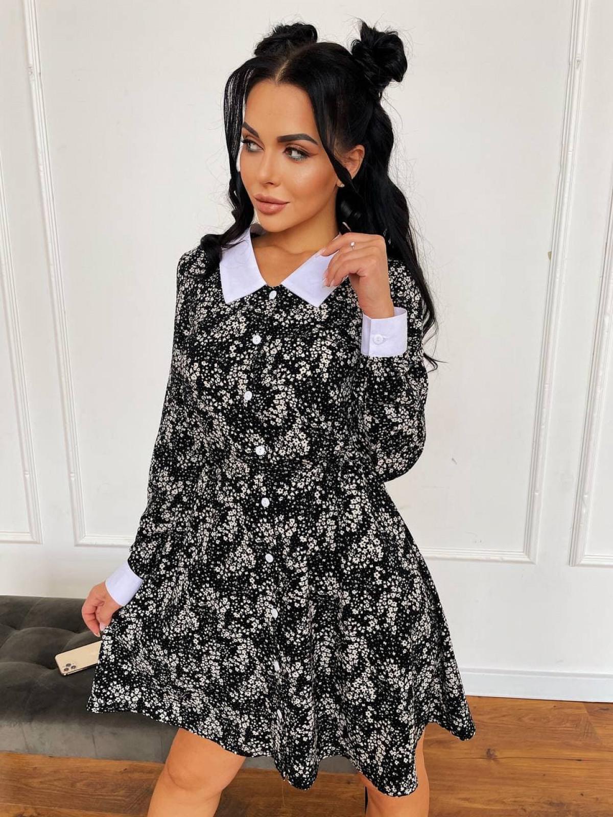 Платье KIMBO Черный-белый