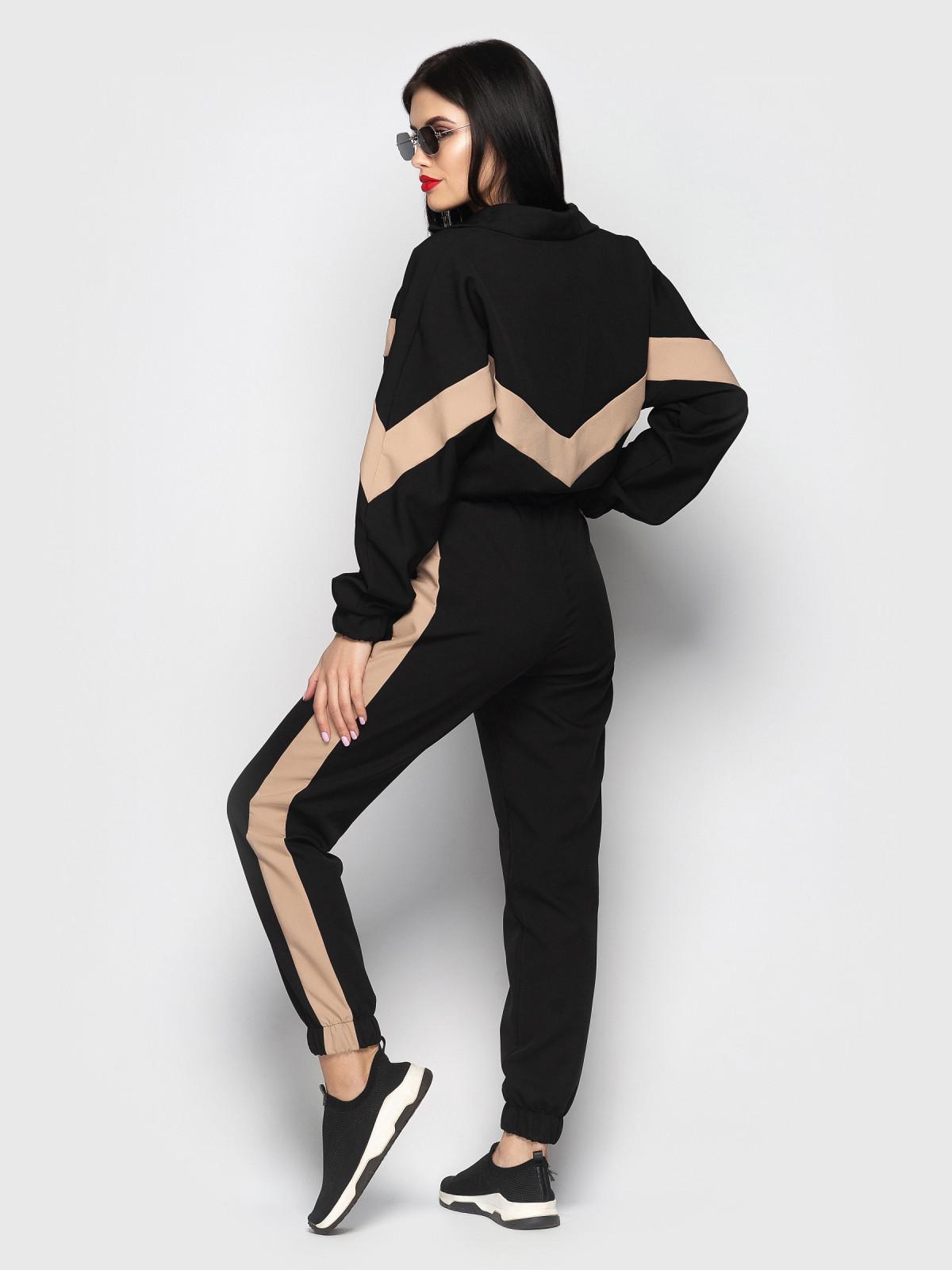 Спортивный костюм Freedom Черный-бежевый