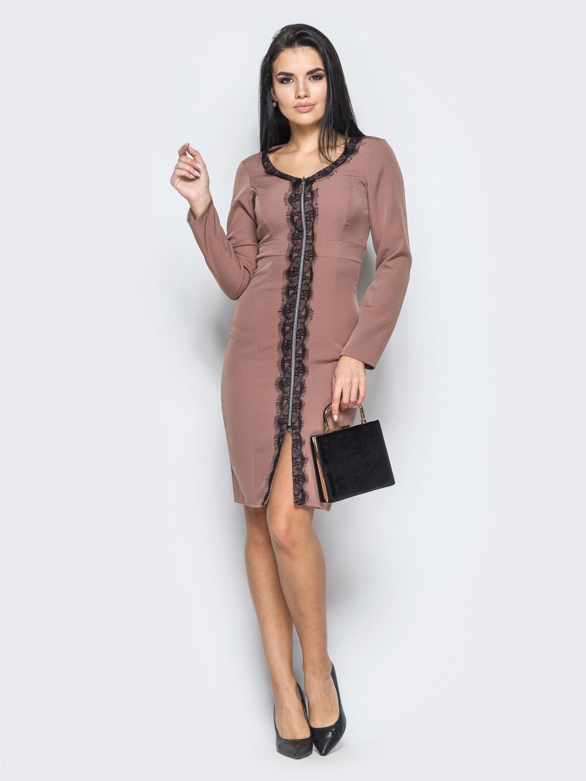 Платье Tifani Кофейный