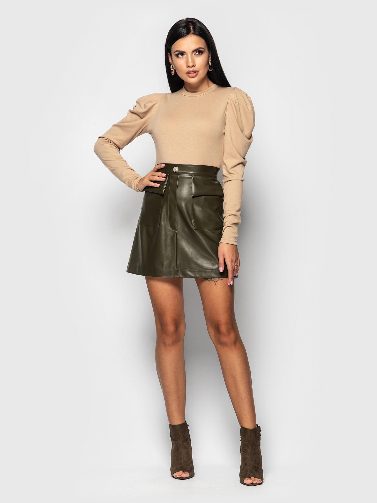 Комплект юбка с гольфом Palmira Хаки-бежевый