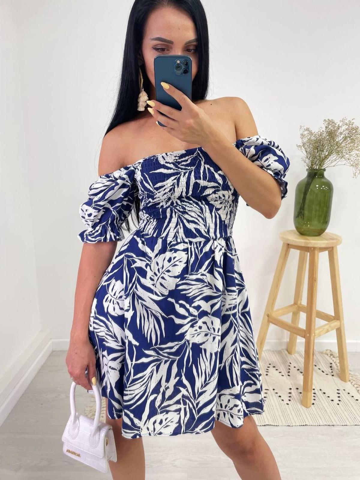 Платье HOT Синий-белый