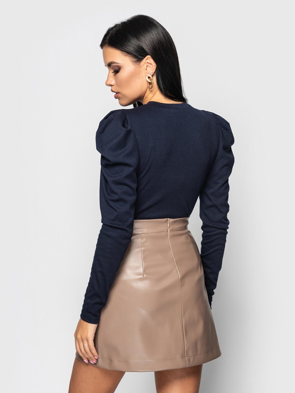 Комплект юбка с гольфом Palmira Кофейный-т.синий