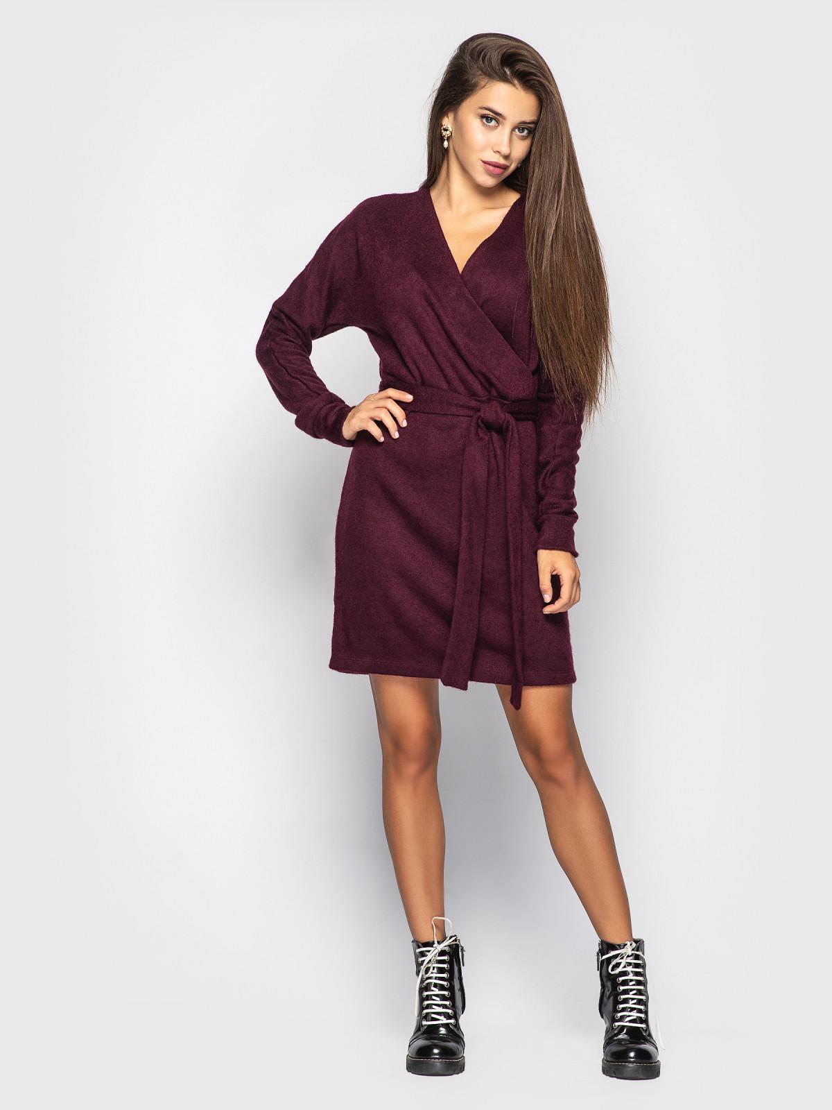 Платье Elza бордовый