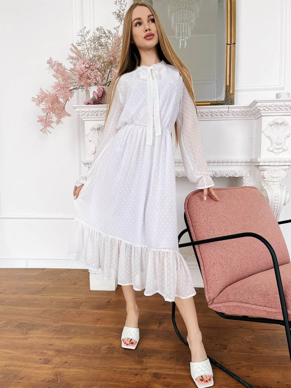 Платье Polina молочный