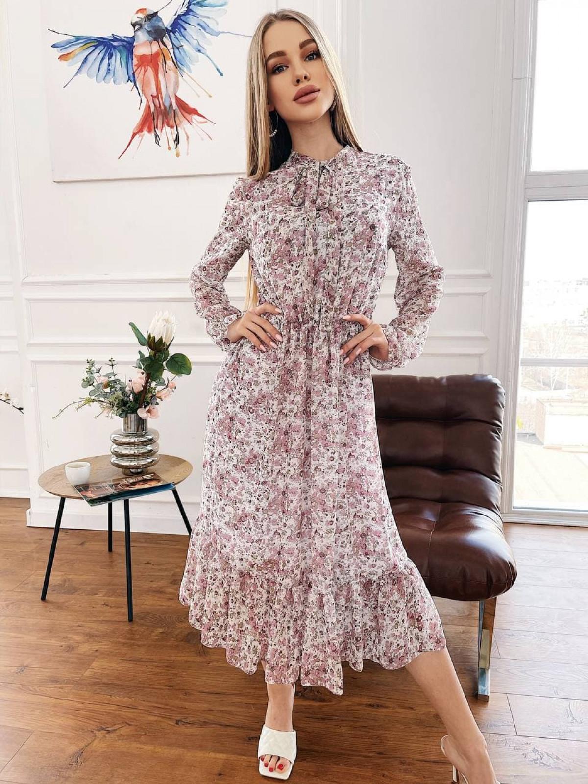 Платье Polina Белый-розовый