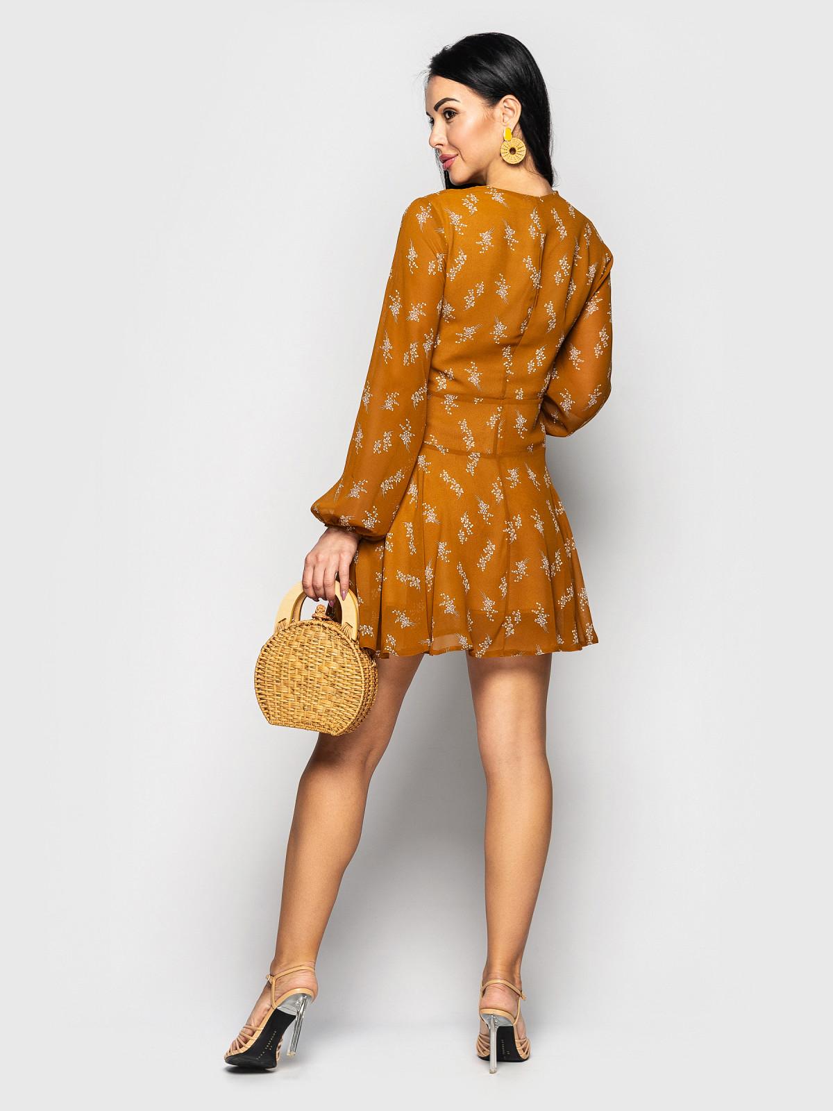 Платье Shakirashifon горчичный