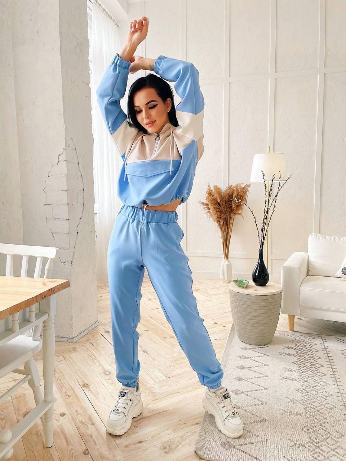 Спортивный костюм Jelly Голубой-бежевый