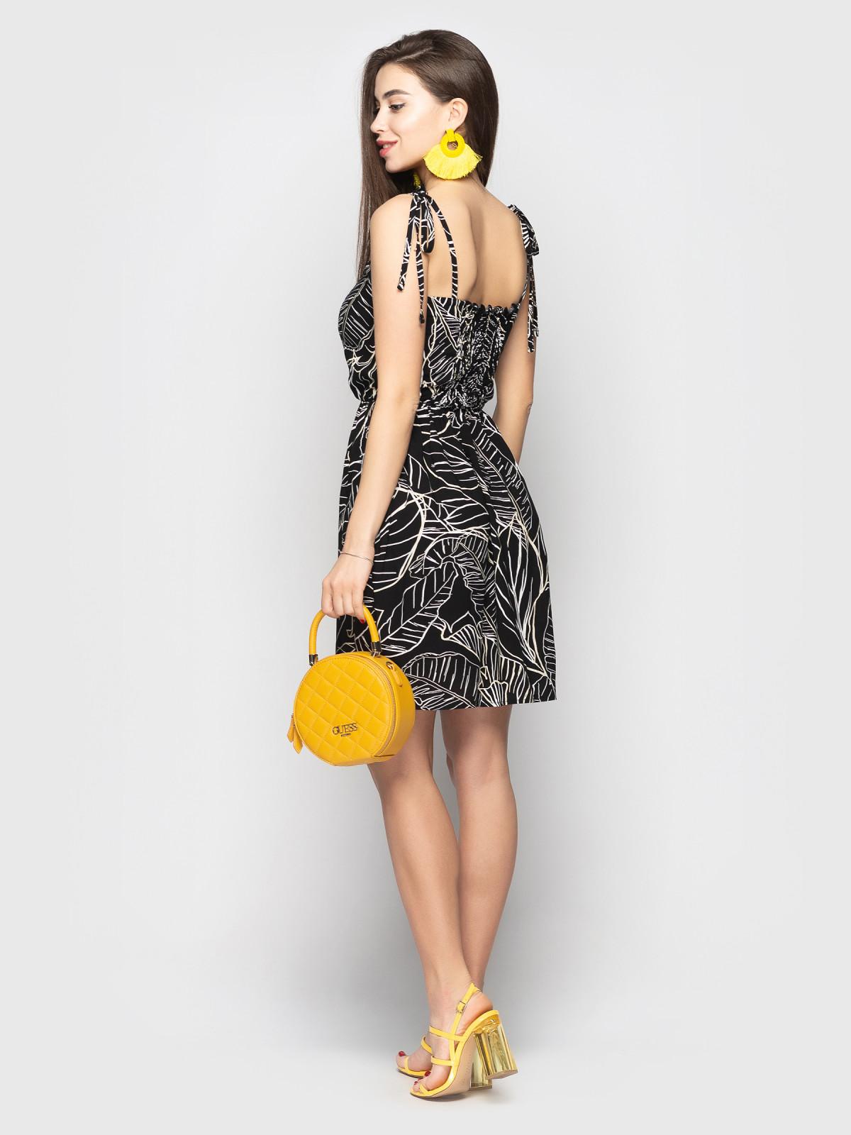 Сарафан Selena Черные листья