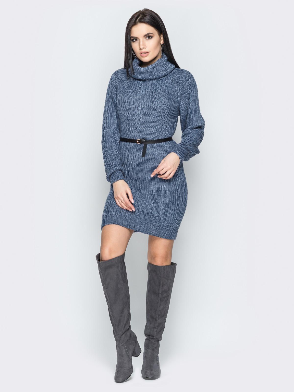 Платье вязаное Adel джинс