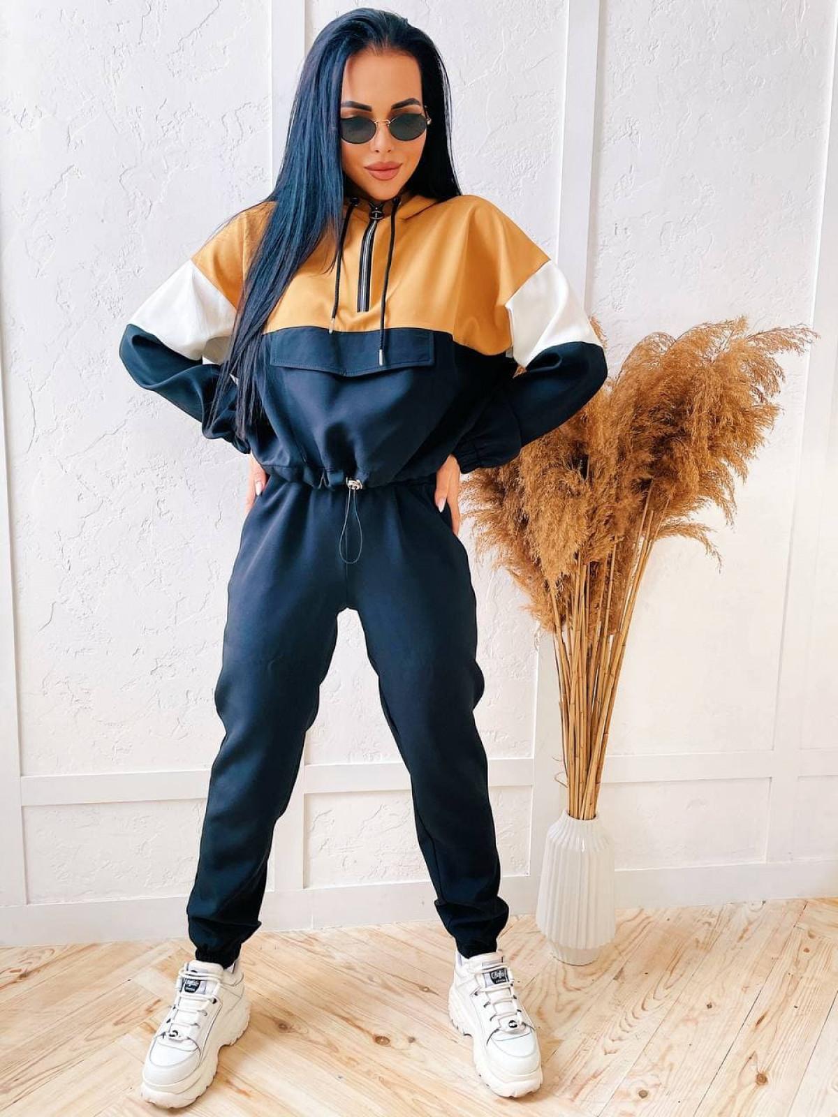 Спортивный костюм Jelly Черный-кэмел