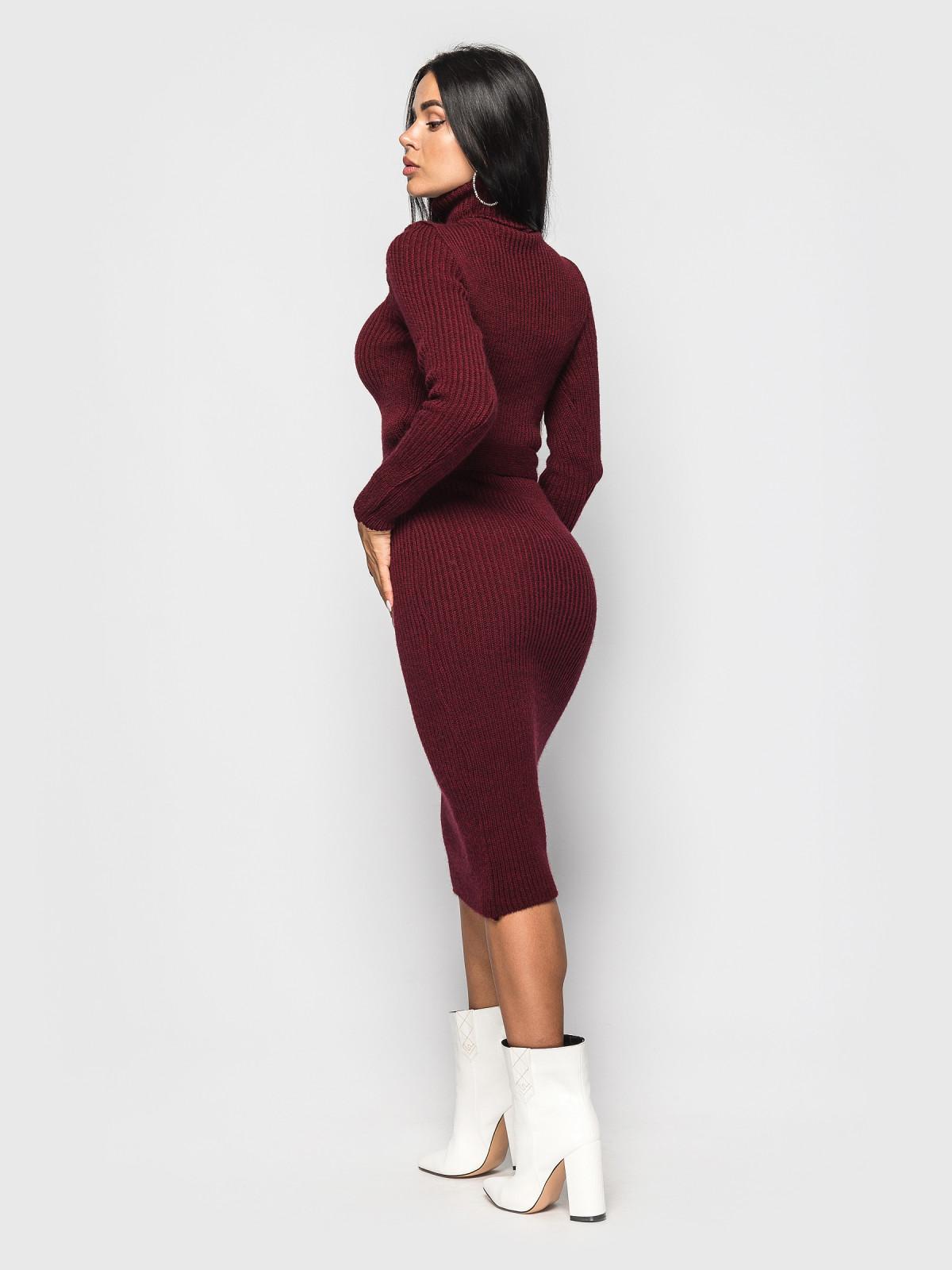 Платье вязаное Jasmine Бордовый