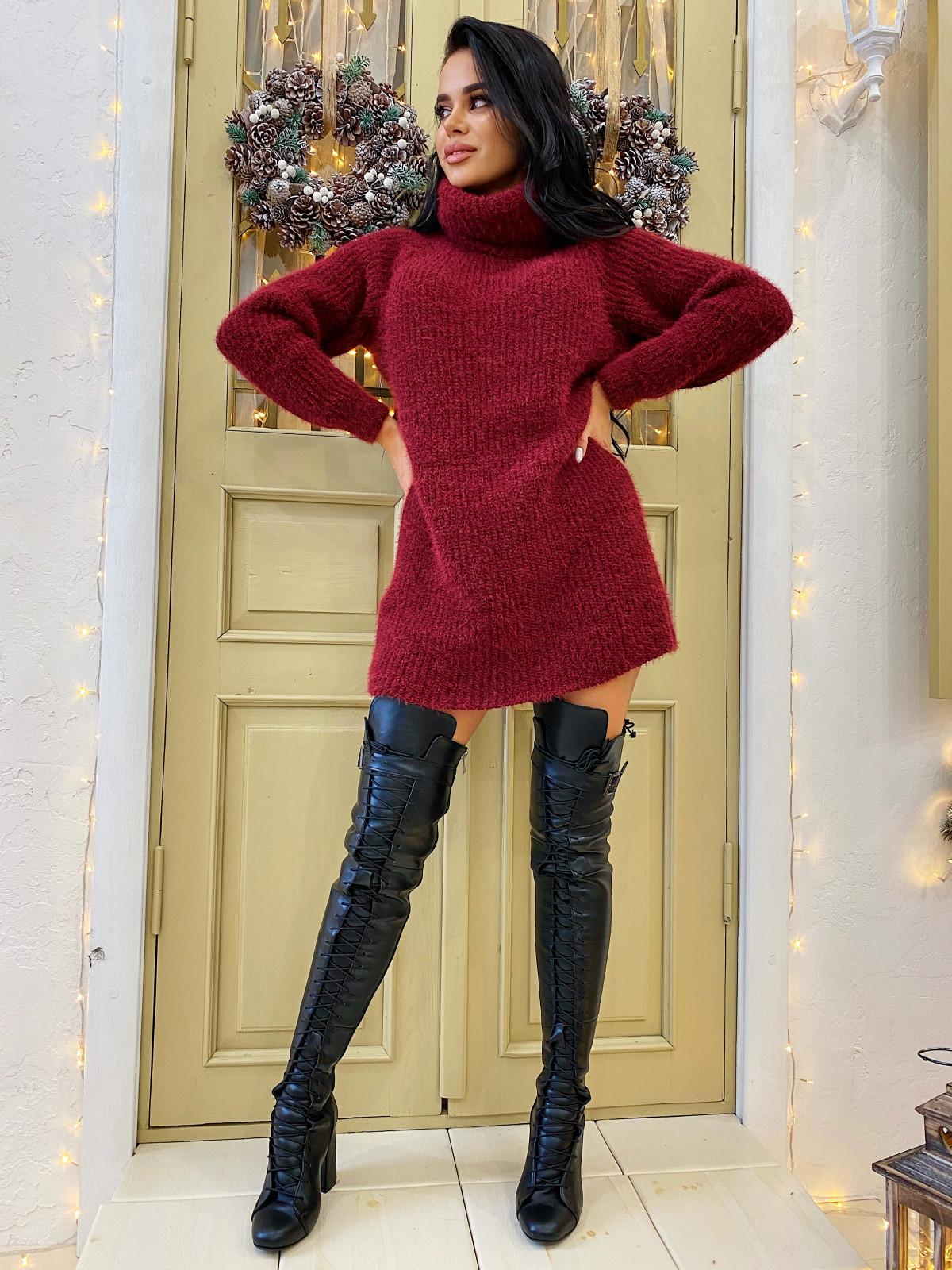 Платье вязаное Lolita бордовый
