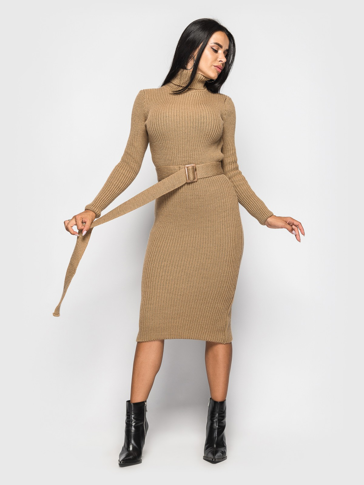 Платье вязаное Jasmine Кэмэл