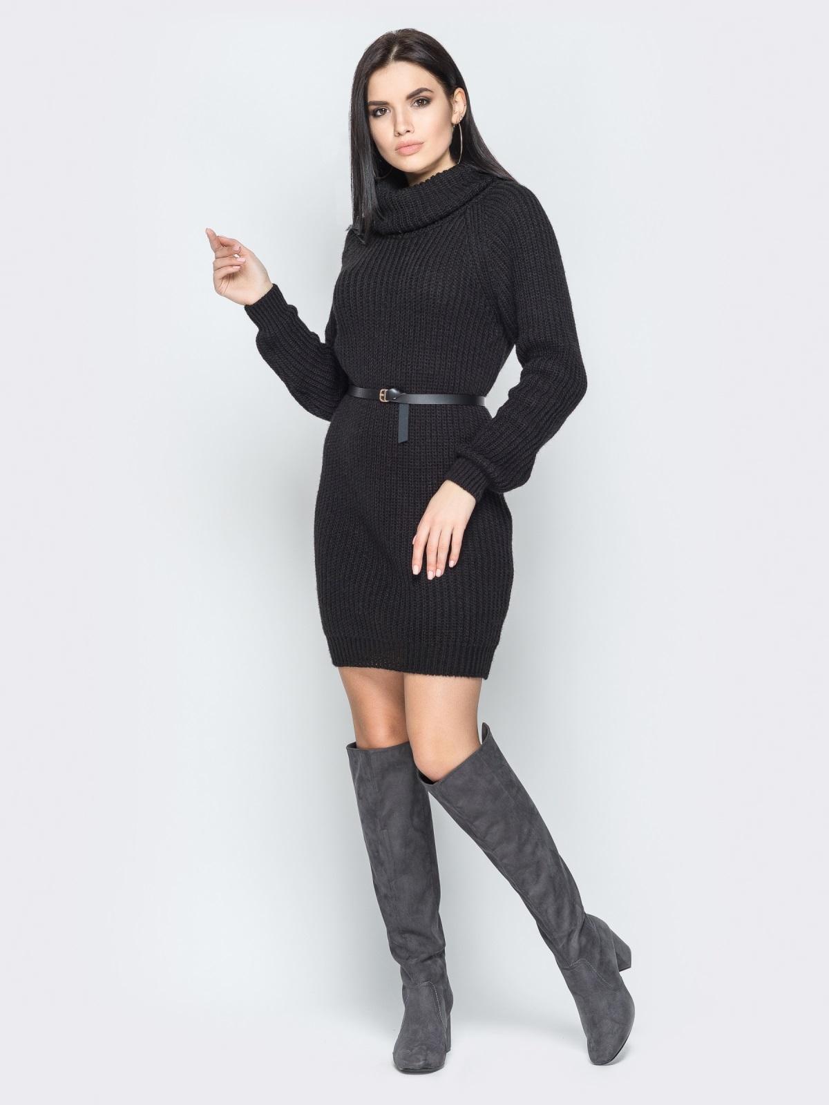 Платье вязаное Adel черный