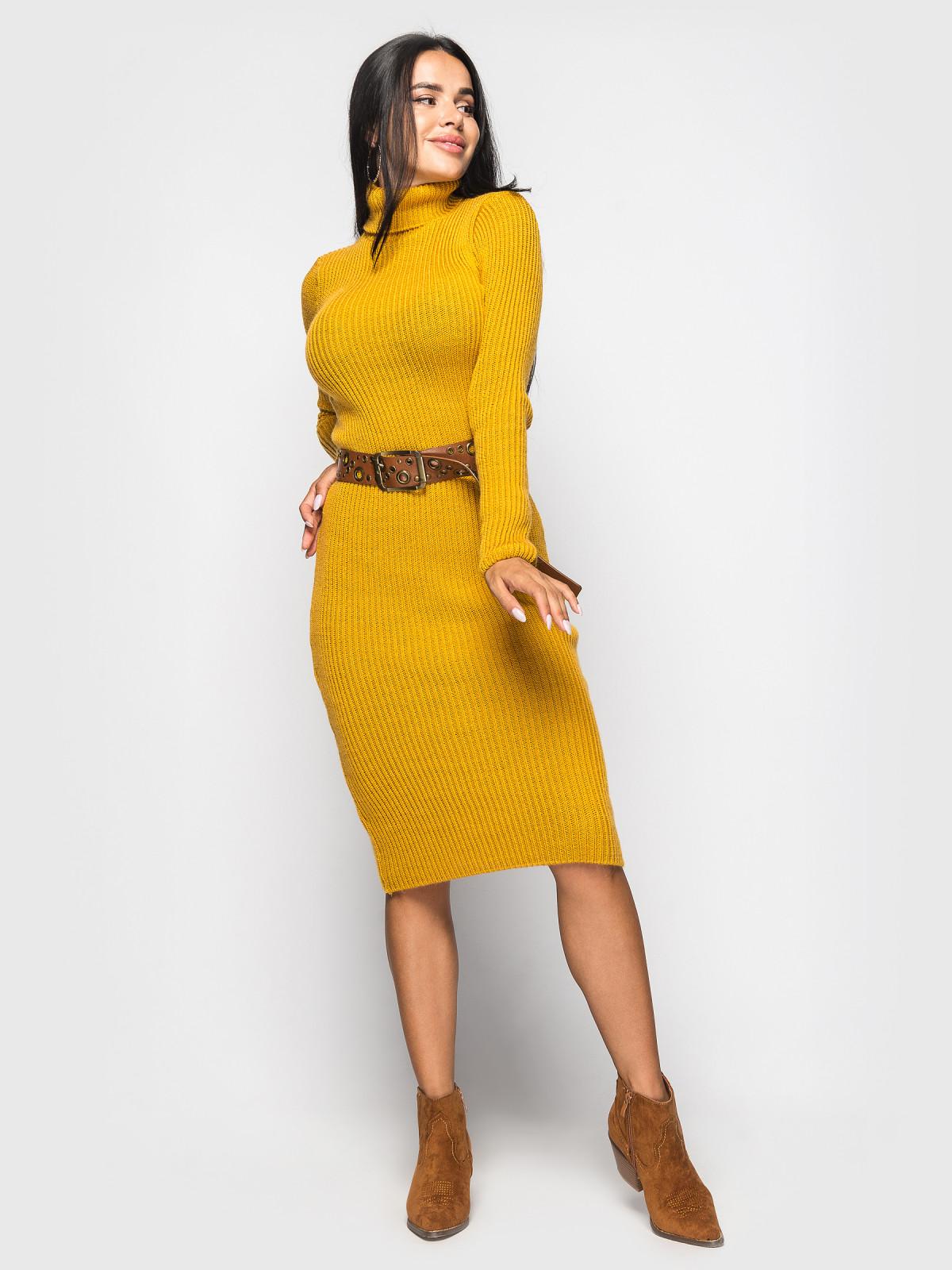 Платье вязаное Jasmine Горчица
