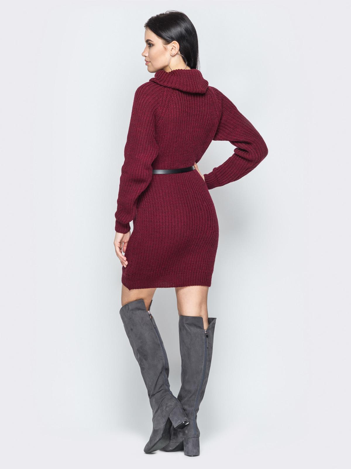 Платье вязаное Adel бордовый