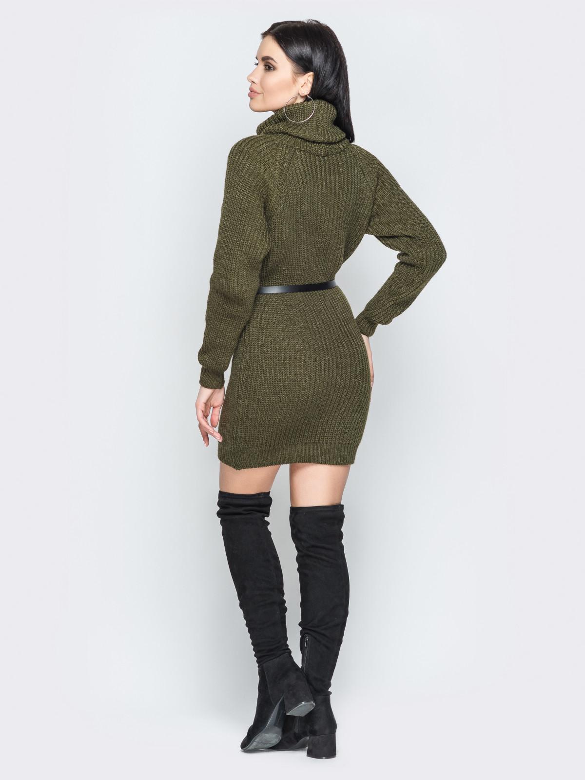 Платье вязаное Adel хаки