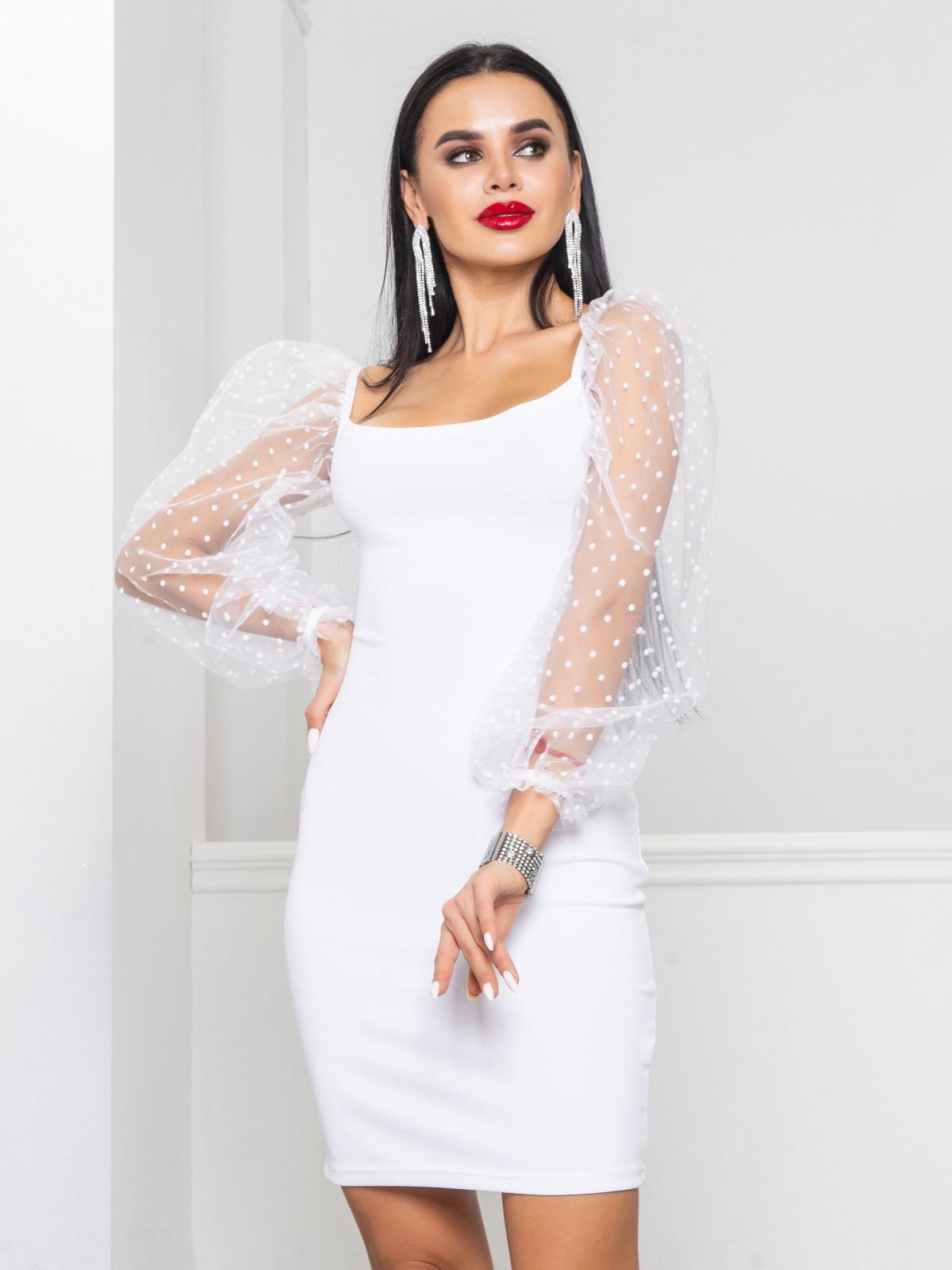 Платье Glamour  белый
