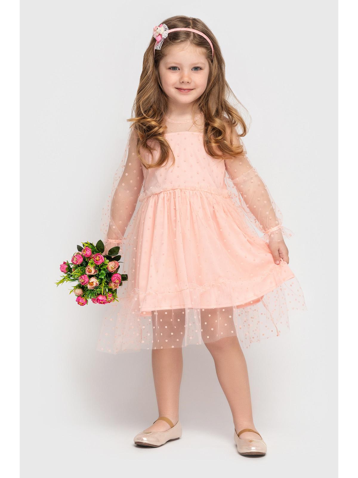 Платье Mari Персиковый