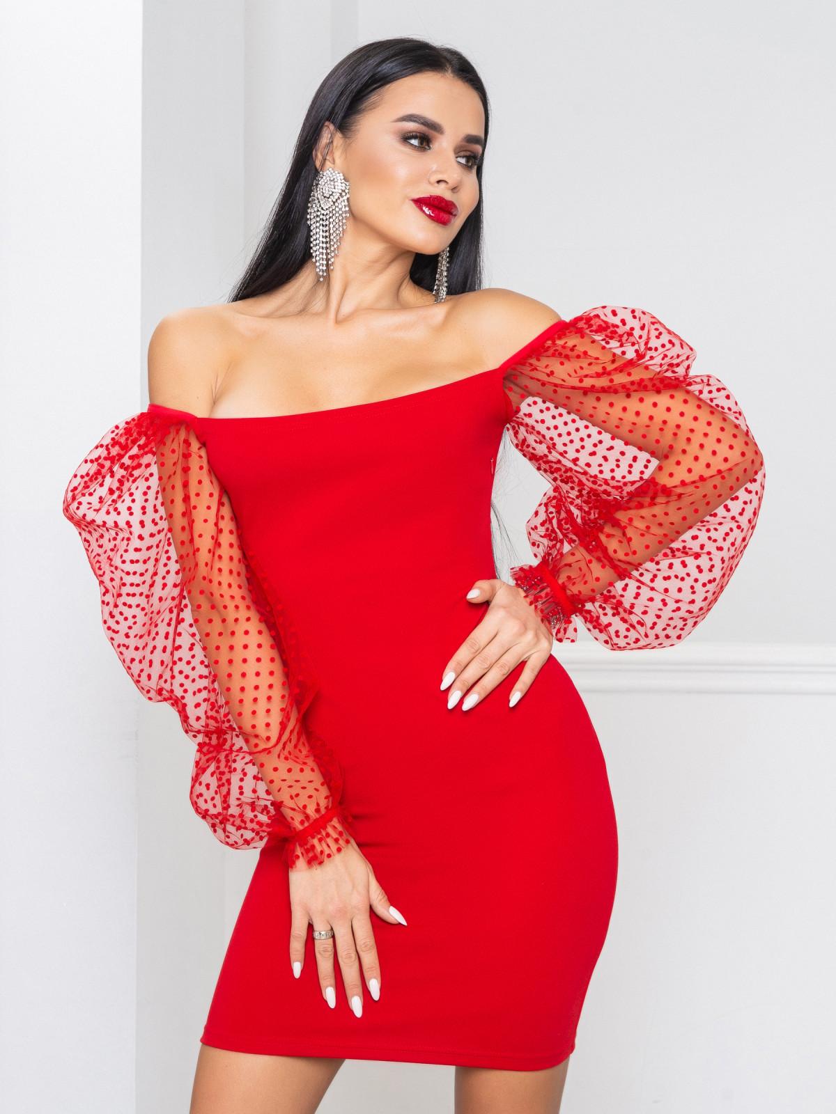 Платье Glamour  красный