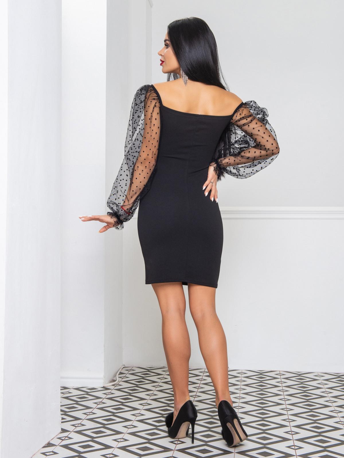 Платье Glamour  черный
