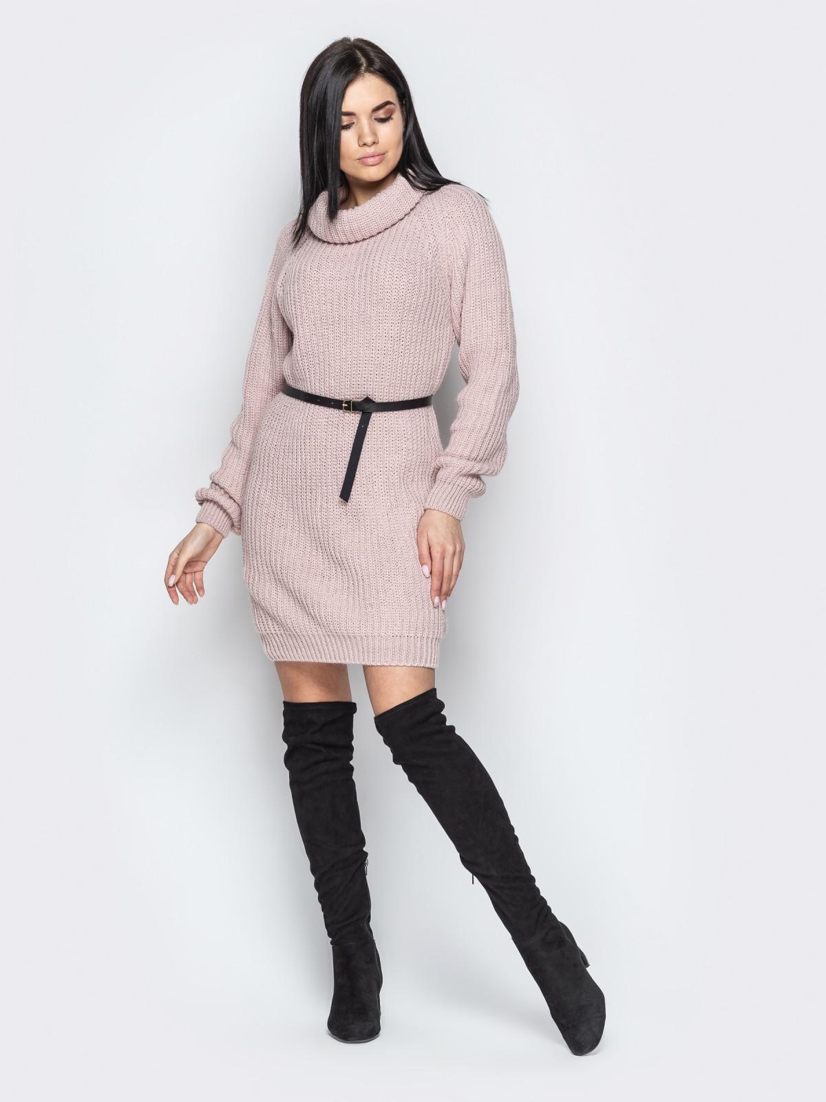 Платье вязаное Adel розовый