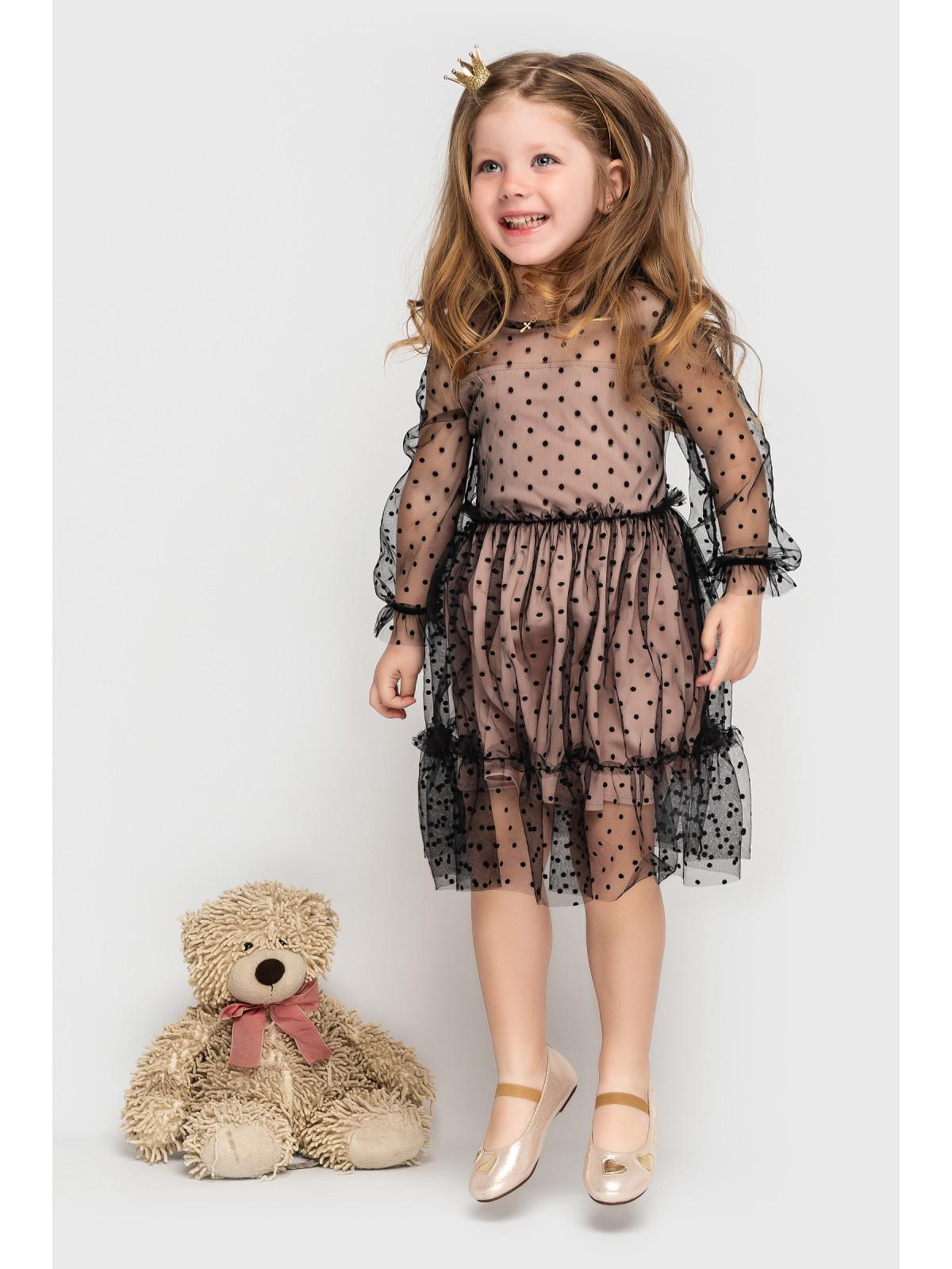 Платье Mari Бежево-черный