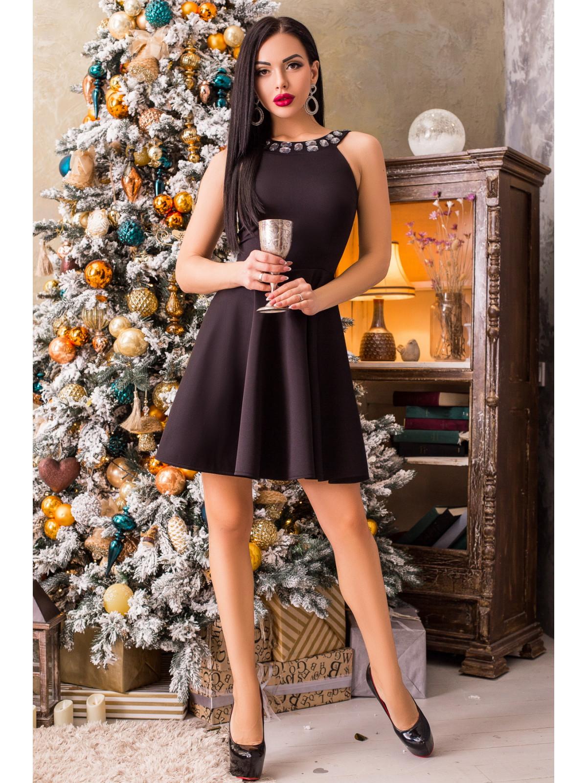 Платье Кристал-1 Черный