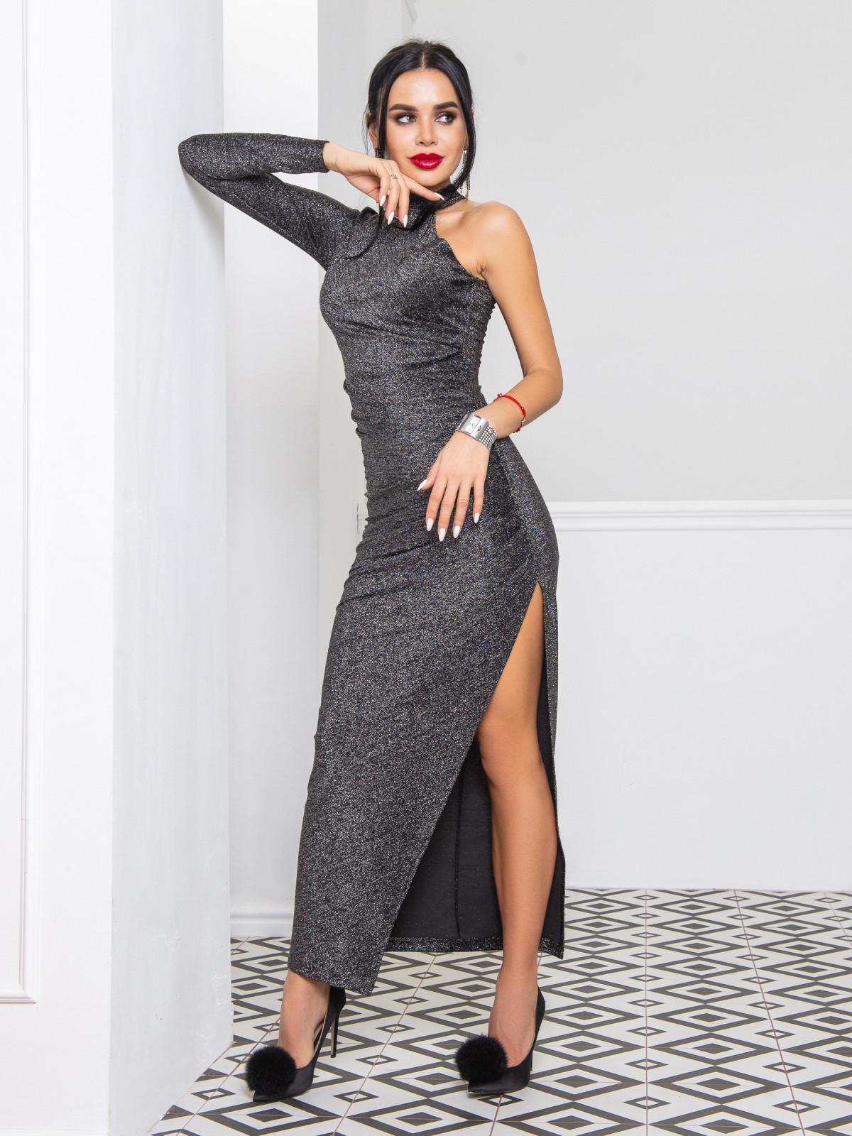 Платье Brilliant черный-серебро