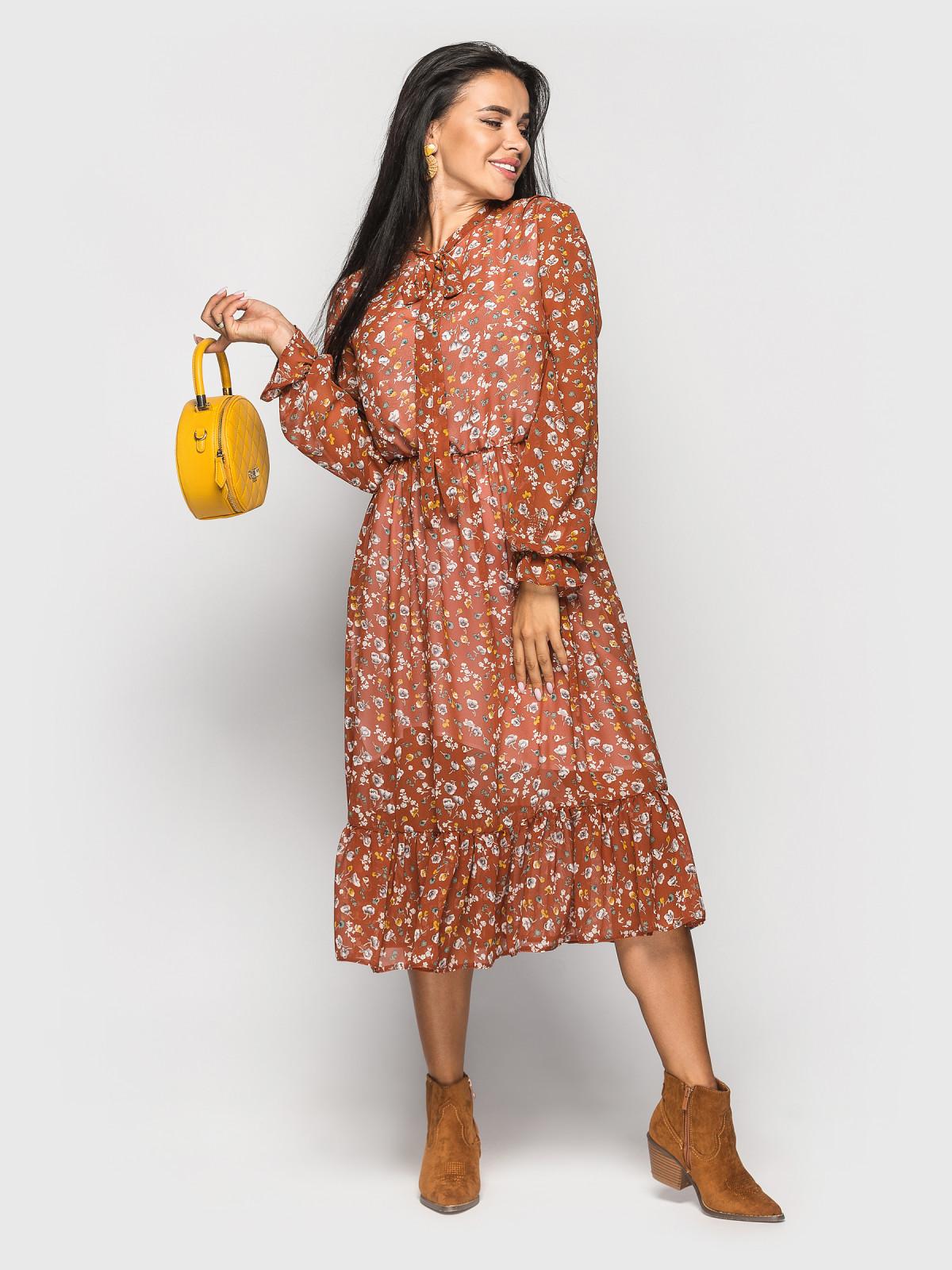 Платье Polina терракотовый