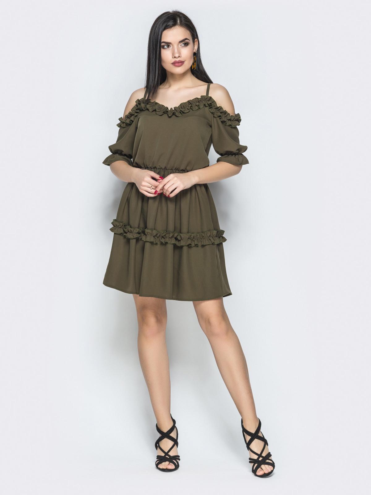 Платье Chica хаки